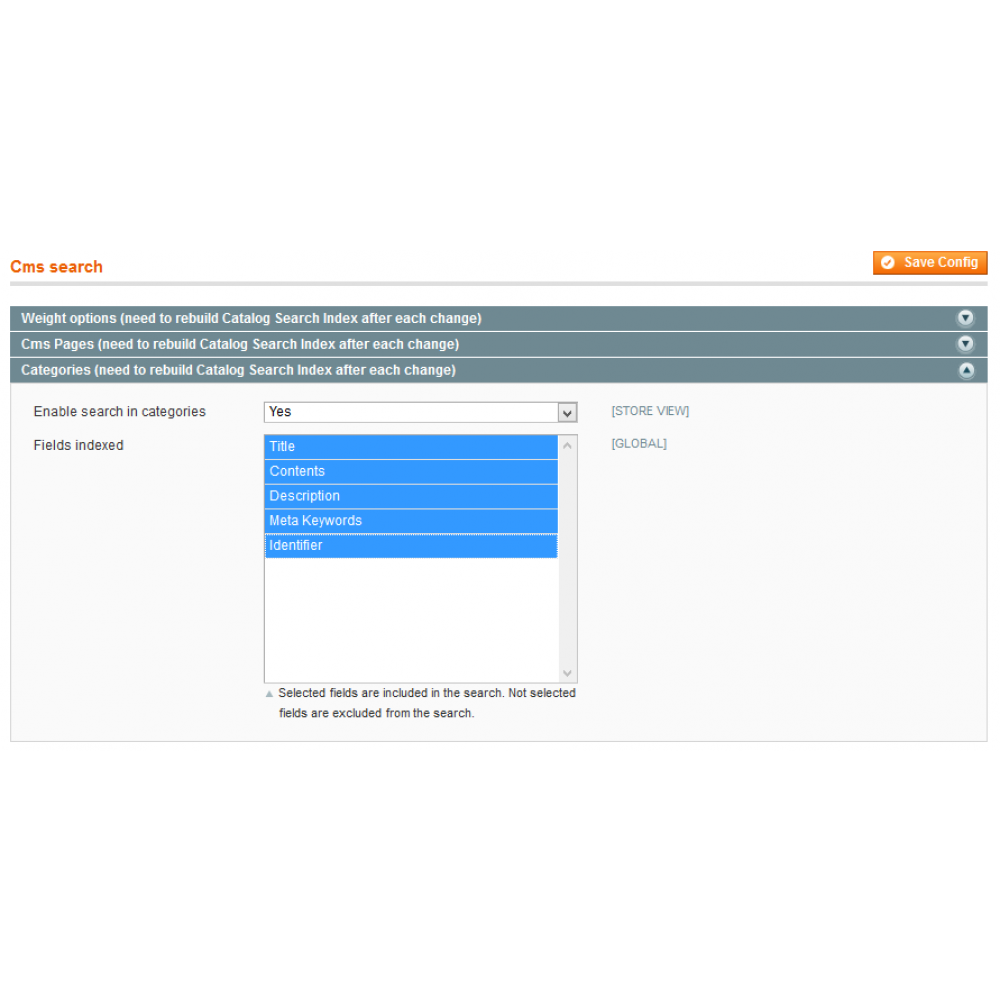 Magento Search: Categories